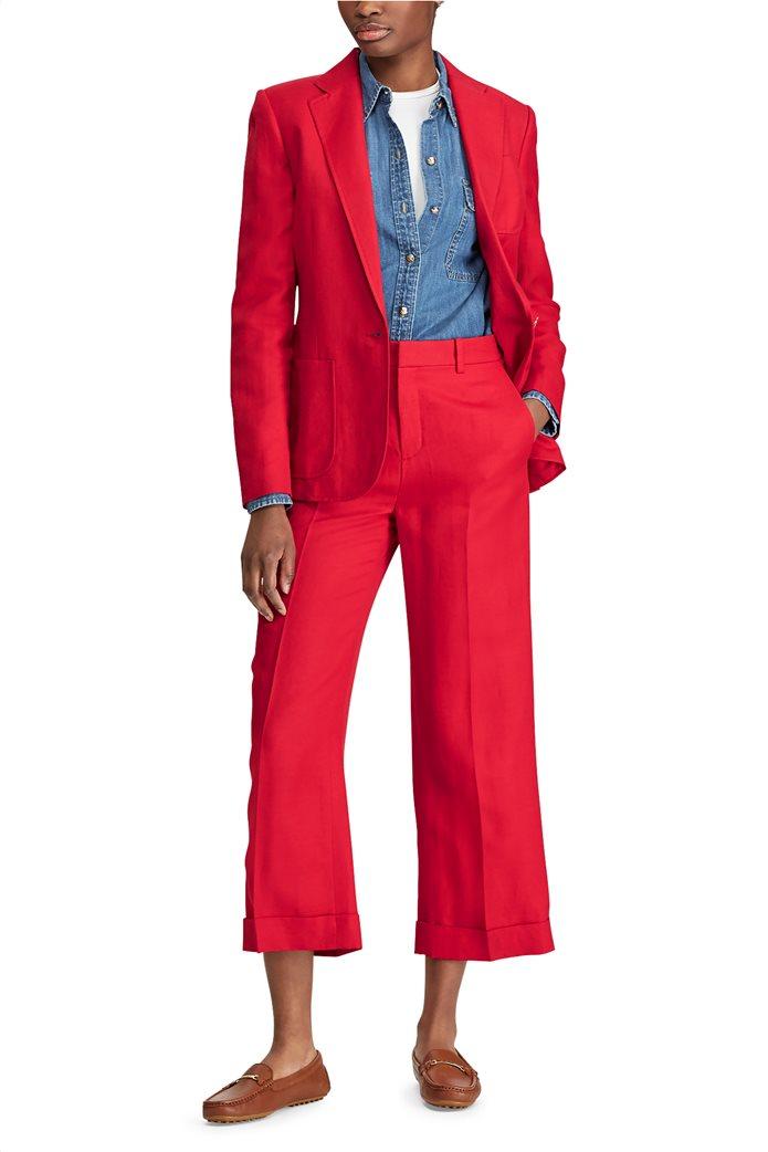 Lauren Ralph Lauren γυναικείο λινό σακάκι μονόκουμπο 2