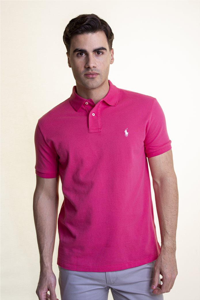 "Polo Ralph Lauren ανδρική polo μπλούζα με κεντημένο logo ""The Iconic Mesh"" 0"