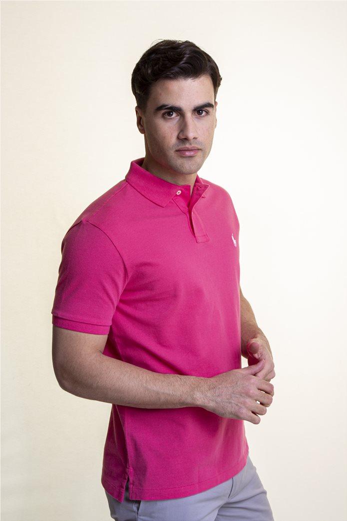 "Polo Ralph Lauren ανδρική polo μπλούζα με κεντημένο logo ""The Iconic Mesh"" 2"