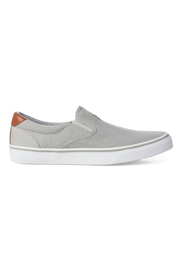 "Polo Ralph Lauren ανδρικά sneakers slip-on μονόχρωμα "" Thompson Washed Twill "" 1"
