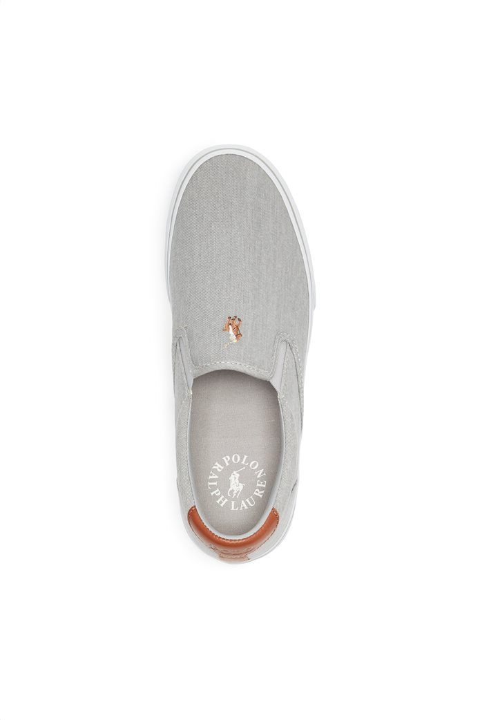 "Polo Ralph Lauren ανδρικά sneakers slip-on μονόχρωμα "" Thompson Washed Twill "" 2"