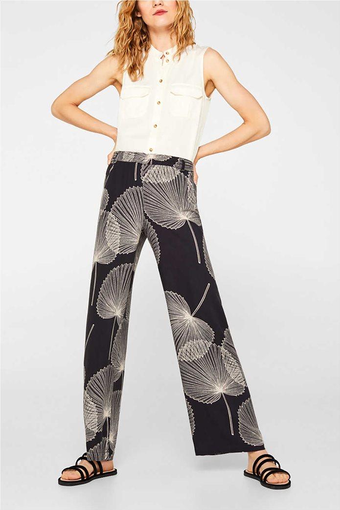 Esprit γυναικεία παντελόνα Palazzo με print 0