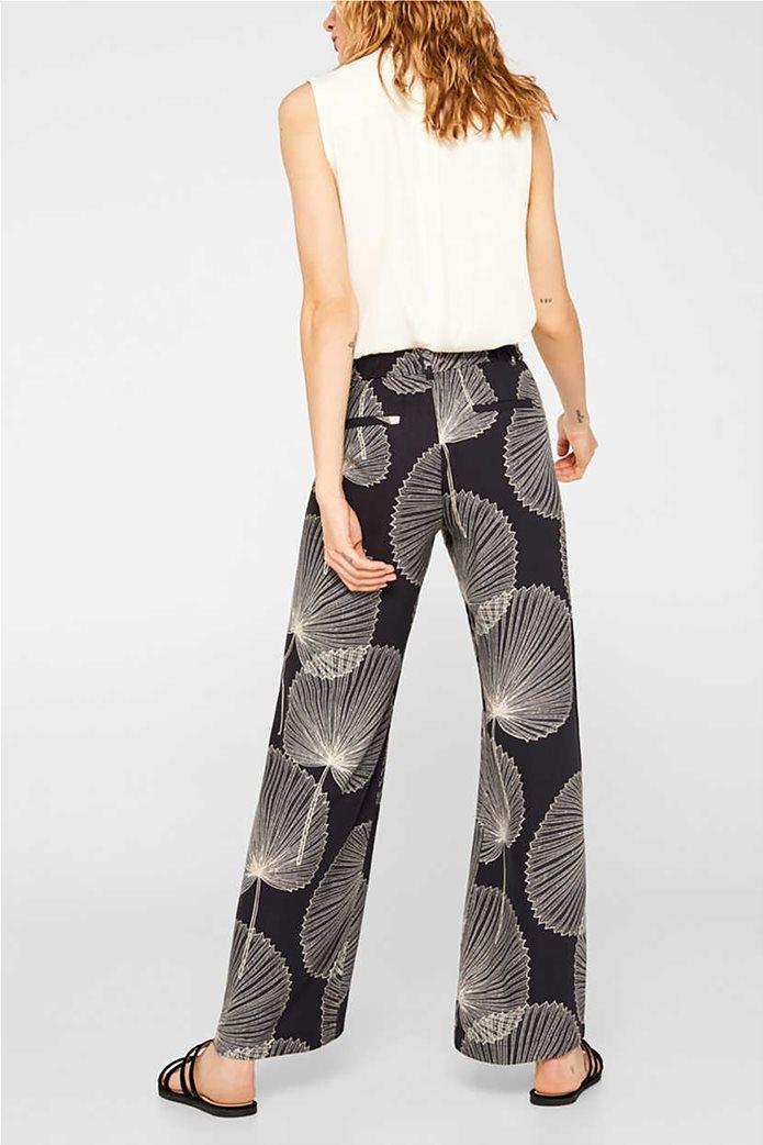 Esprit γυναικεία παντελόνα Palazzo με print 1