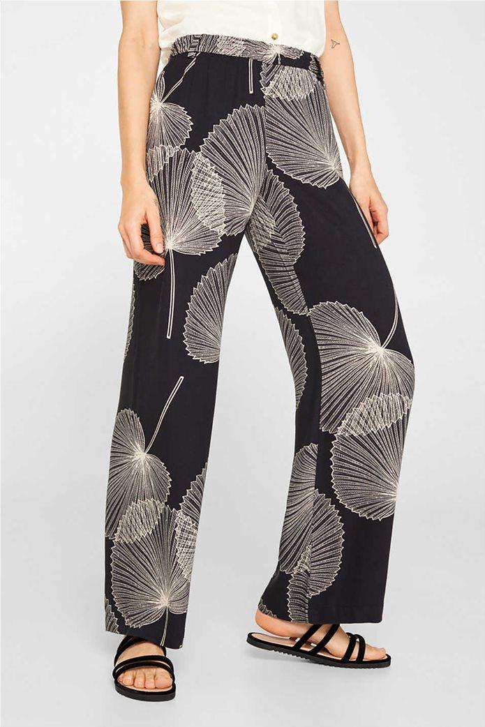Esprit γυναικεία παντελόνα Palazzo με print 2