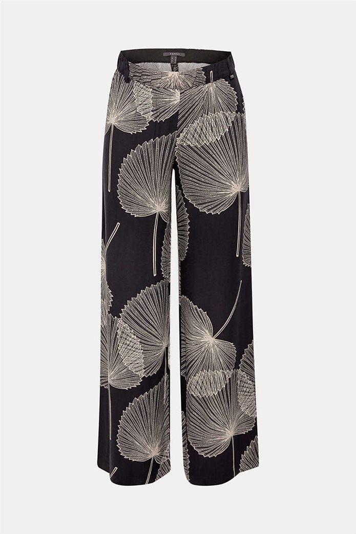 Esprit γυναικεία παντελόνα Palazzo με print 5