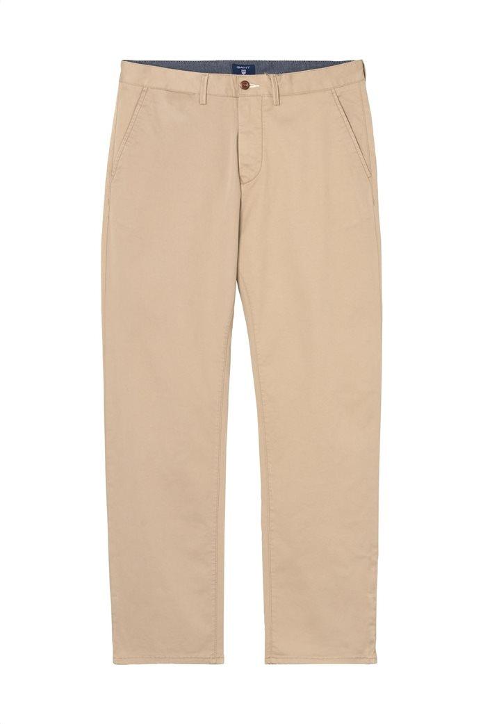 Gant ανδρικό παντελόνι chino Regular Fit Twill (34L) 0