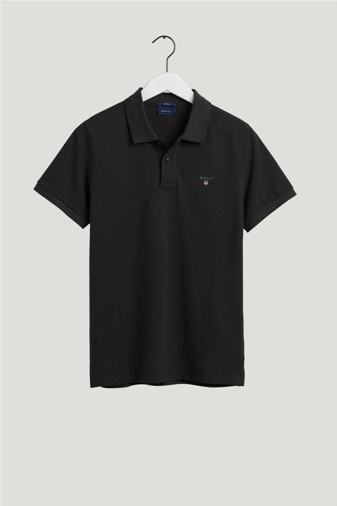 Gant ανδρική πικέ πόλο μπλούζα μονόχρωμη 4