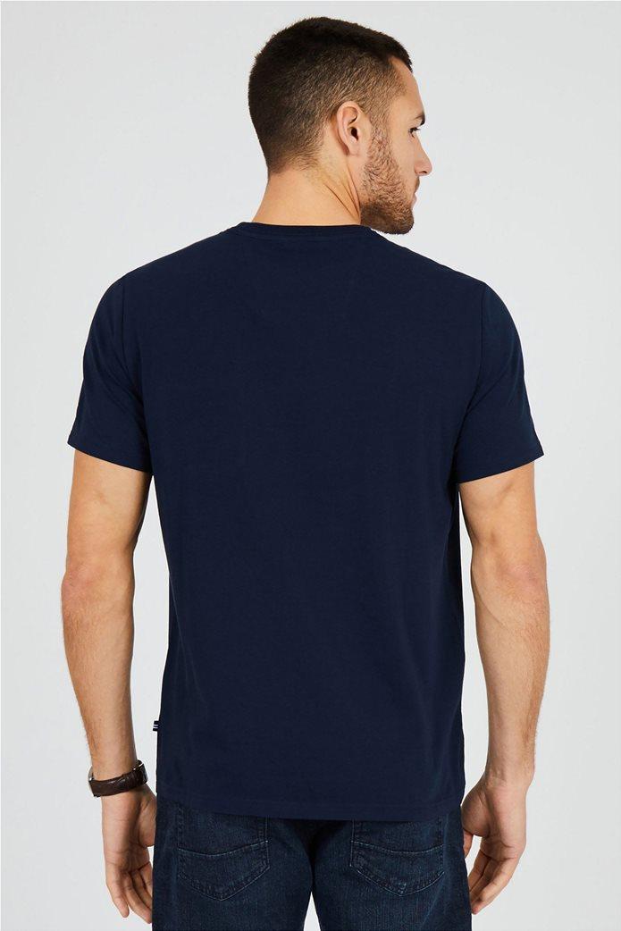 Nautica ανδρικό T-shirt μονόχρωμο με τσέπη 2