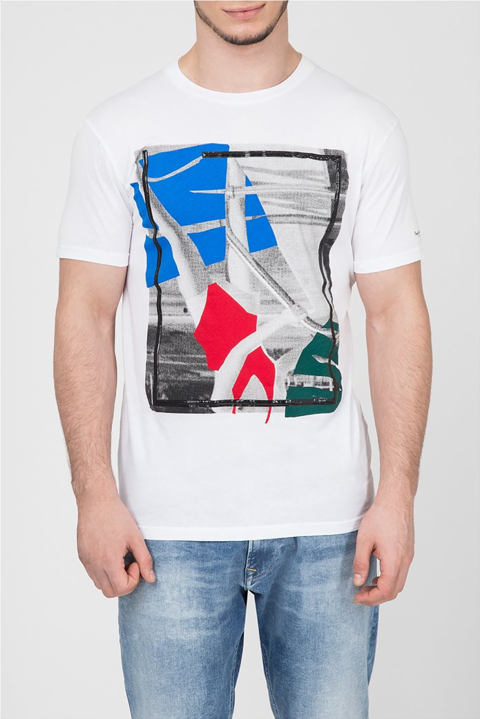 Pepe Jeans ανδρικό T-shirt με στάμπα Oliver 0