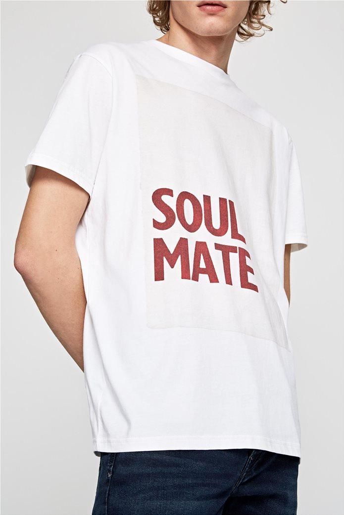 Pepe Jeans ανδρικό T-shirt με letter print Henry 1