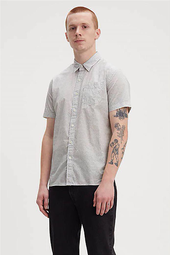 Levi's® ανδρικό πουκάμισο με μικροσχέδια print all-over Sunset Λευκό 0
