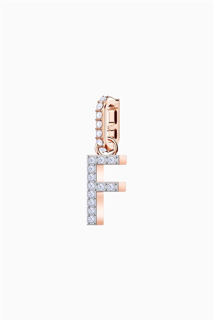 Swarovski Remix Collection Charm F, Rose gold plating 0