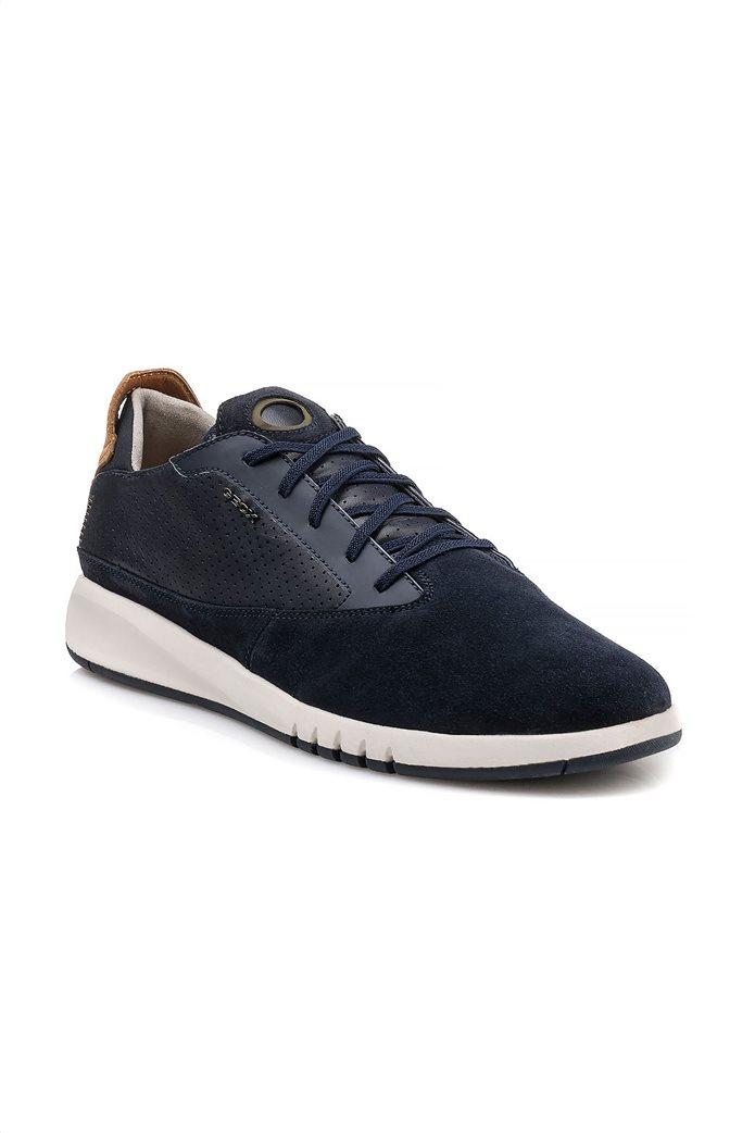 """Geox ανδρικά sneakers με ελαστικά κορδόνια """"Aerantis"""" Μπλε Σκούρο 0"""