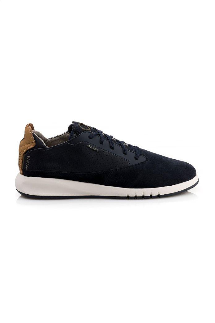 """Geox ανδρικά sneakers με ελαστικά κορδόνια """"Aerantis"""" Μπλε Σκούρο 1"""