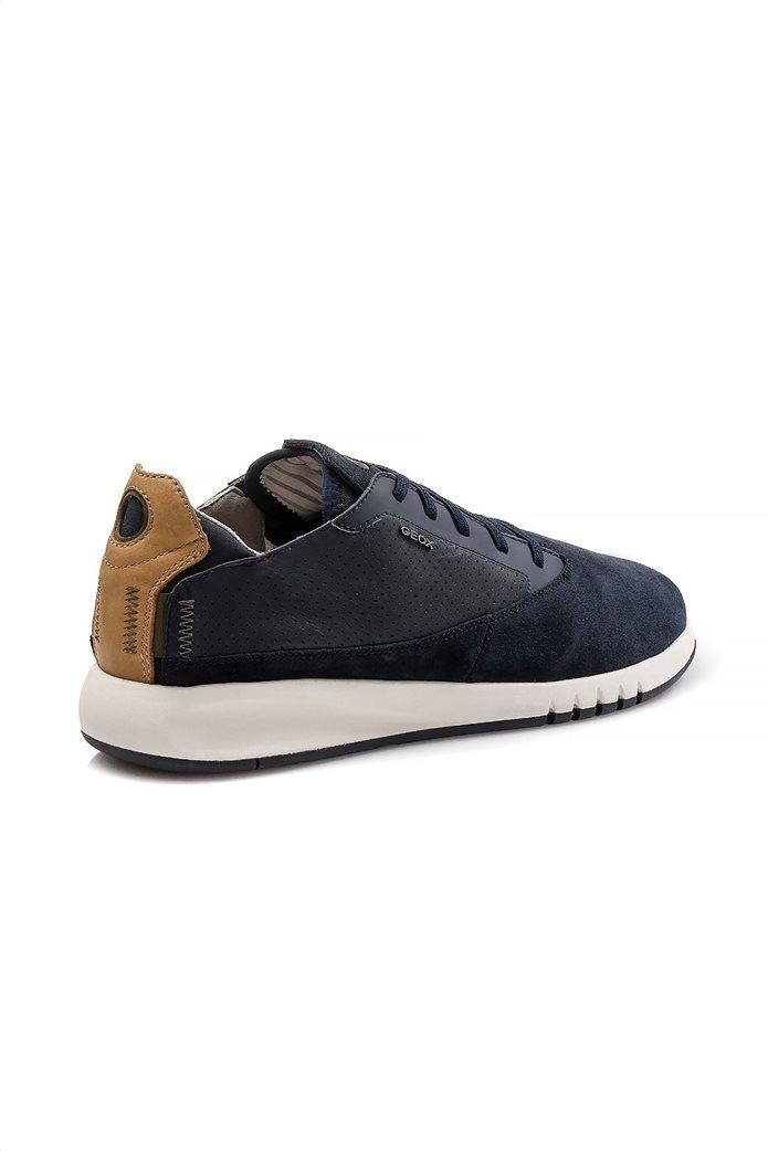 """Geox ανδρικά sneakers με ελαστικά κορδόνια """"Aerantis"""" Μπλε Σκούρο 2"""