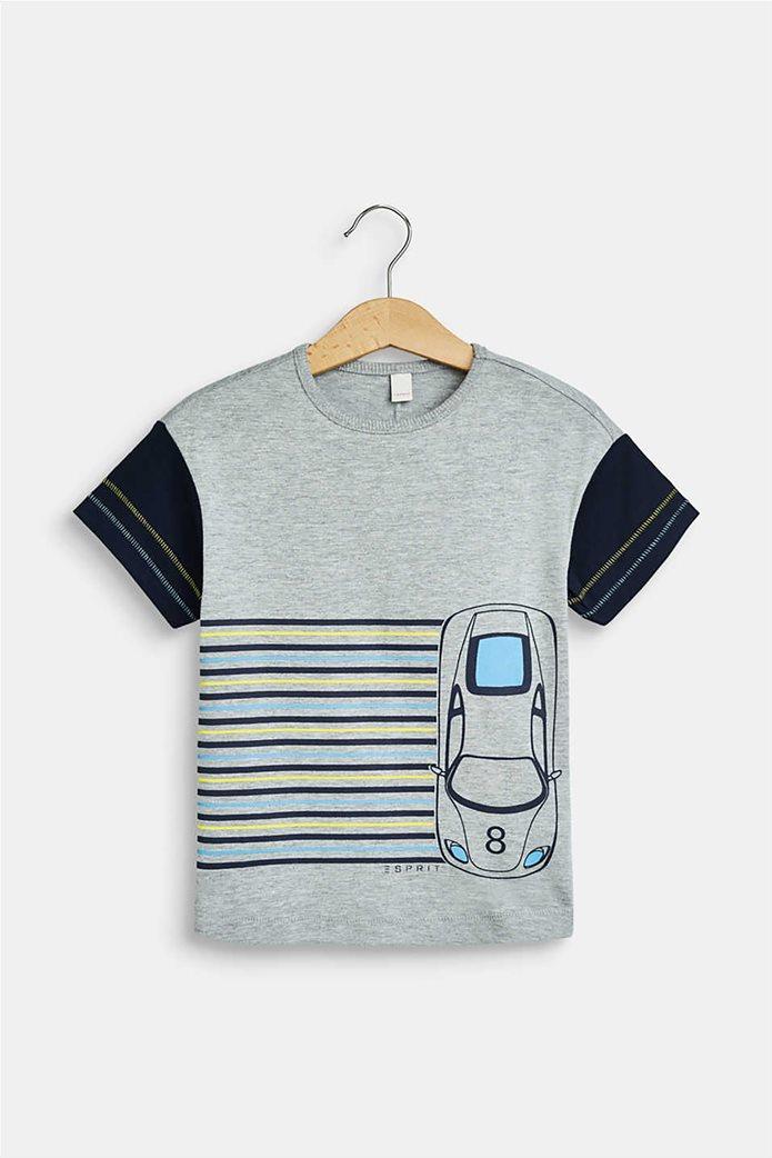 Esprit παιδικό T-shirt με racing car print (2-9 ετών) 0