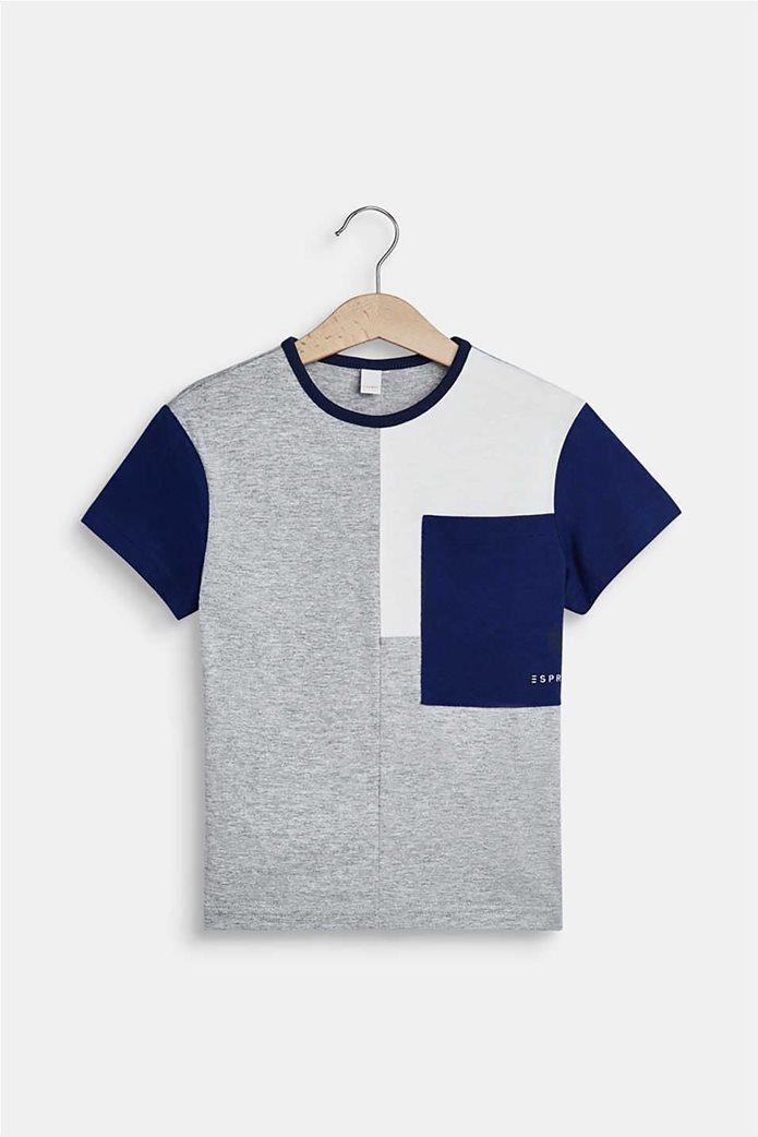 Esprit παιδικό T-shirt με colour blocking (2-9 ετών) Γκρι 0