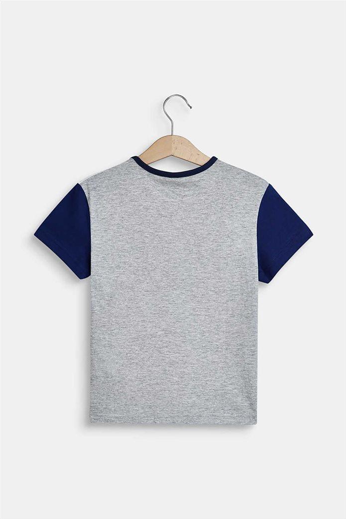 Esprit παιδικό T-shirt με colour blocking (2-9 ετών) Γκρι 1
