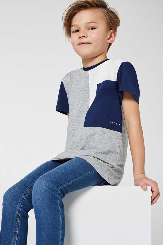 Esprit παιδικό T-shirt με colour blocking (2-9 ετών) Γκρι 2