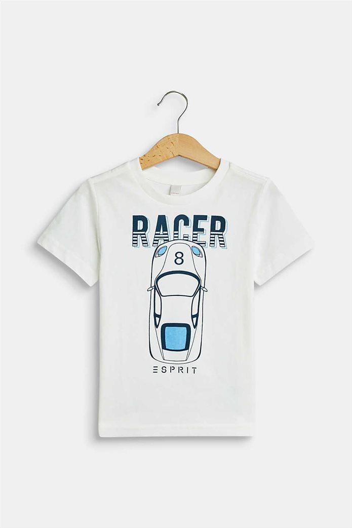 Esprit παιδικό T-shirt με race car print (2-9 ετών) 0