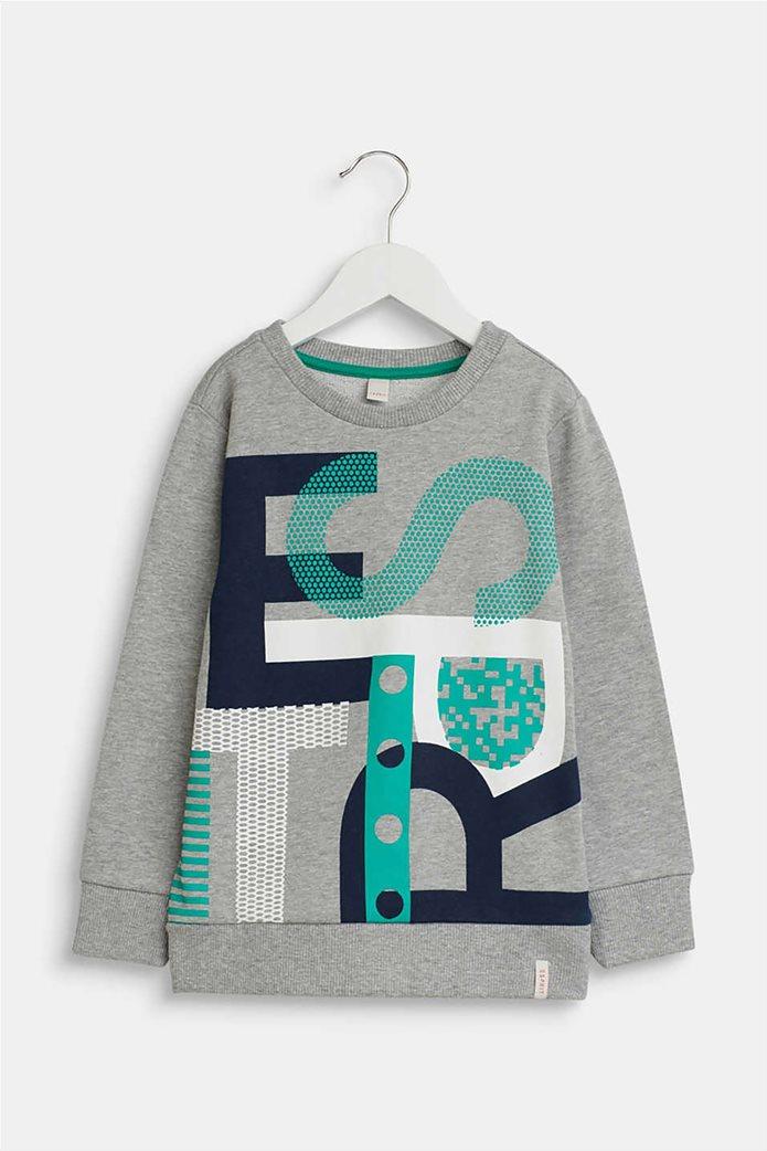 Esprit παιδική μπλούζα φούτερ με logo letter print (2-9 χρονών) 0