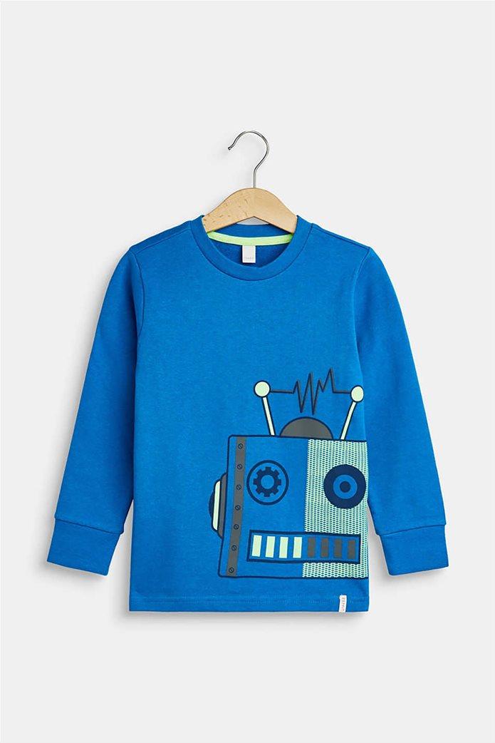 Esprit παιδική μπλούζα φούτερ με robot print(2-9 χρονών) 0