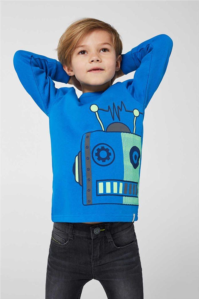 Esprit παιδική μπλούζα φούτερ με robot print(2-9 χρονών) 2