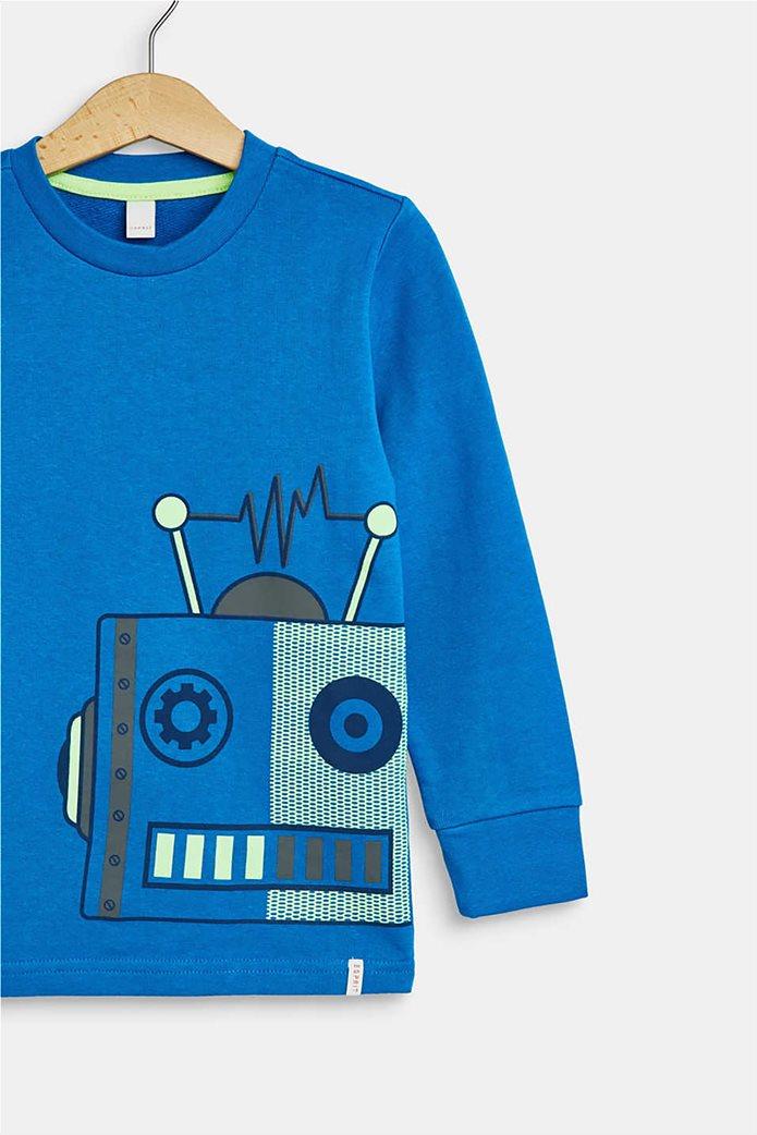 Esprit παιδική μπλούζα φούτερ με robot print(2-9 χρονών) 3