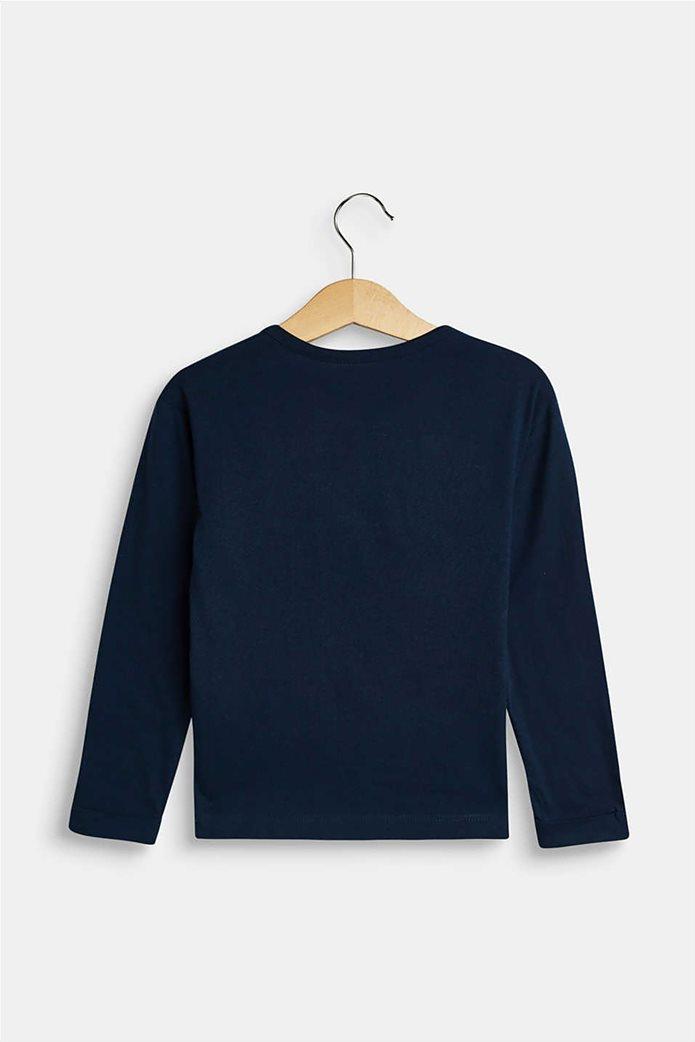 Esprit παιδική μπλούζα μακρυμάνικη με παγιέτα 1