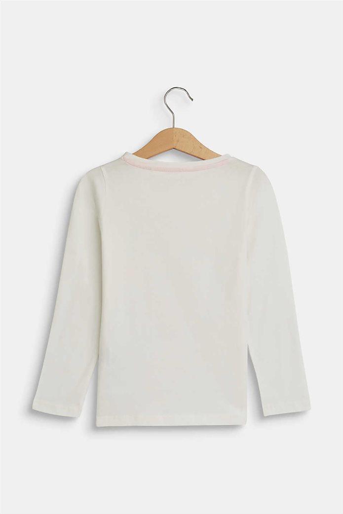 "Esprit παιδική μπλούζα μακρυμάνικη με metallic ""Love"" print (2-9 ετών) 1"