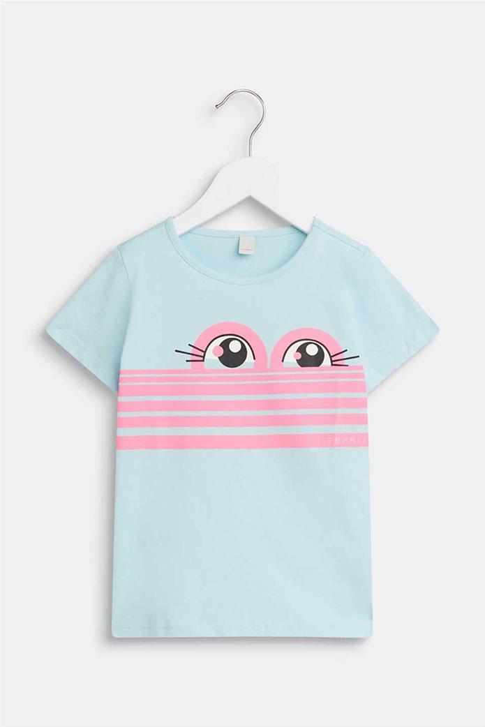 Esprit παιδικό T-shirt με sweet eye print (2-9 ετών) 0