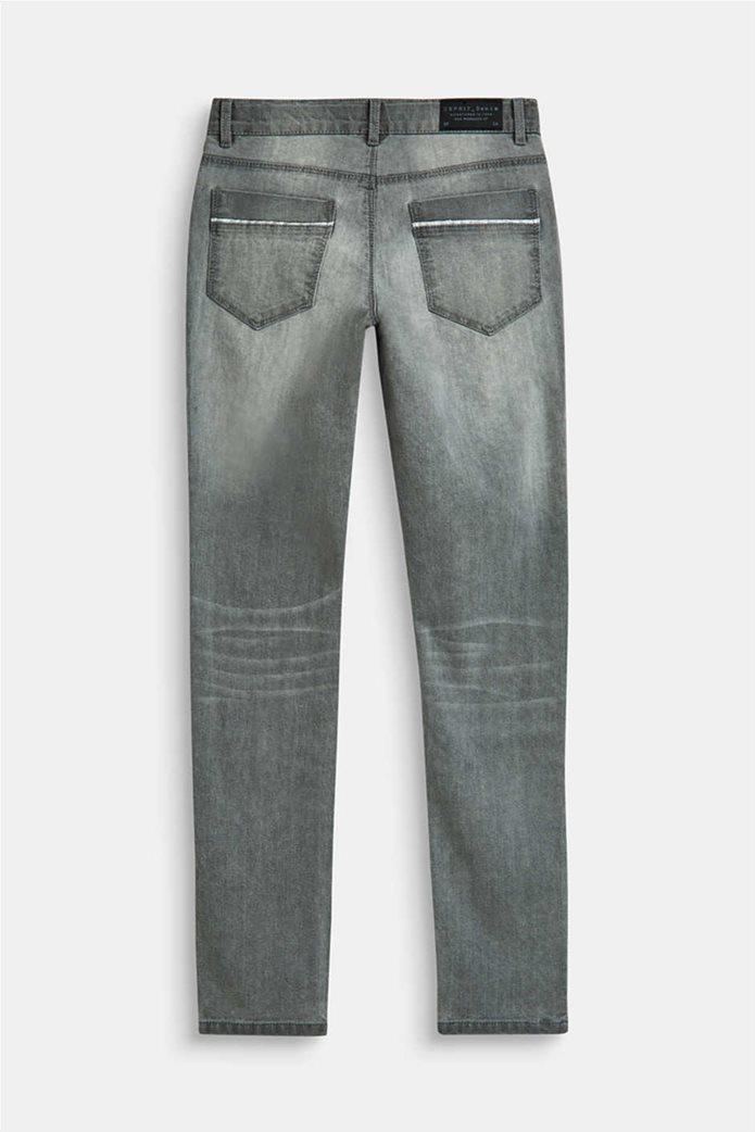 Esprit παιδικό παντελόνι τζην skinny fit με ξεβαμμένη όψη (9-14 ετών) Γκρι 1