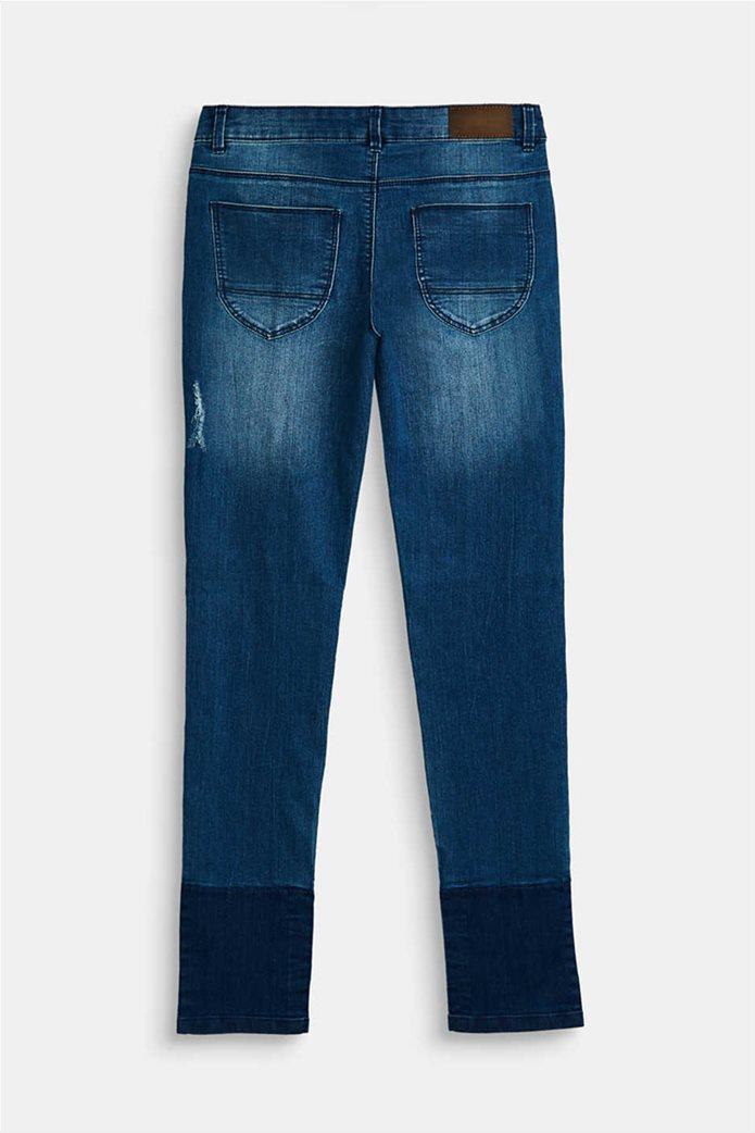 Esprit παιδικό τζην παντελόνι με ξεβαμμένη όψη και φθορές (9-14 ετών) Μπλε Σκούρο 1