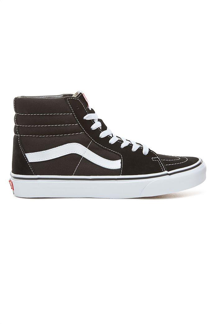 "Vans unisex μποτάκια sneakers με άσπρη ρίγα ""SK8-HI"" Μαύρο Noir 0"