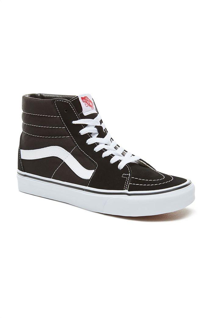 "Vans unisex μποτάκια sneakers με άσπρη ρίγα ""SK8-HI"" Μαύρο Noir 2"