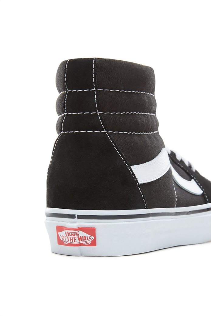 "Vans unisex μποτάκια sneakers με άσπρη ρίγα ""SK8-HI"" Μαύρο Noir 3"