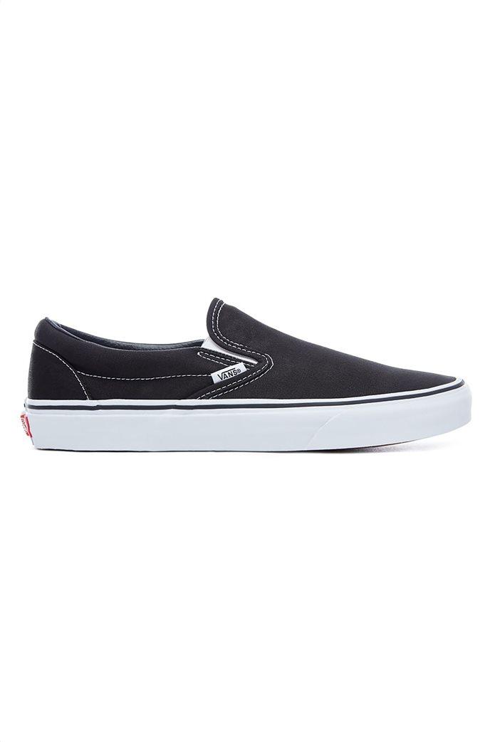 Vans unisex υφασμάτινα παπούτσια  με άσπρη σόλα Classic Slip-On 0