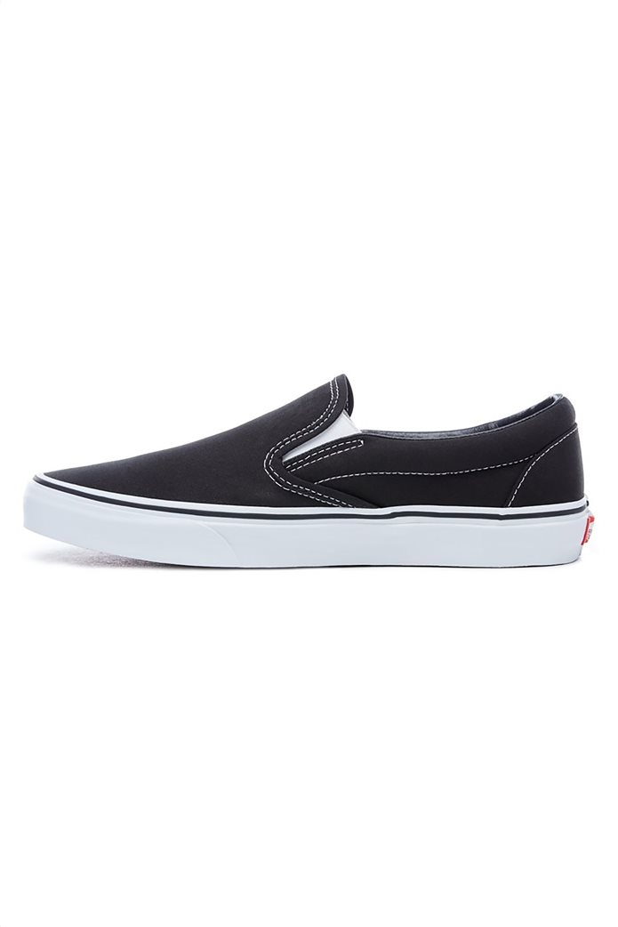 Vans unisex υφασμάτινα παπούτσια  με άσπρη σόλα Classic Slip-On 1