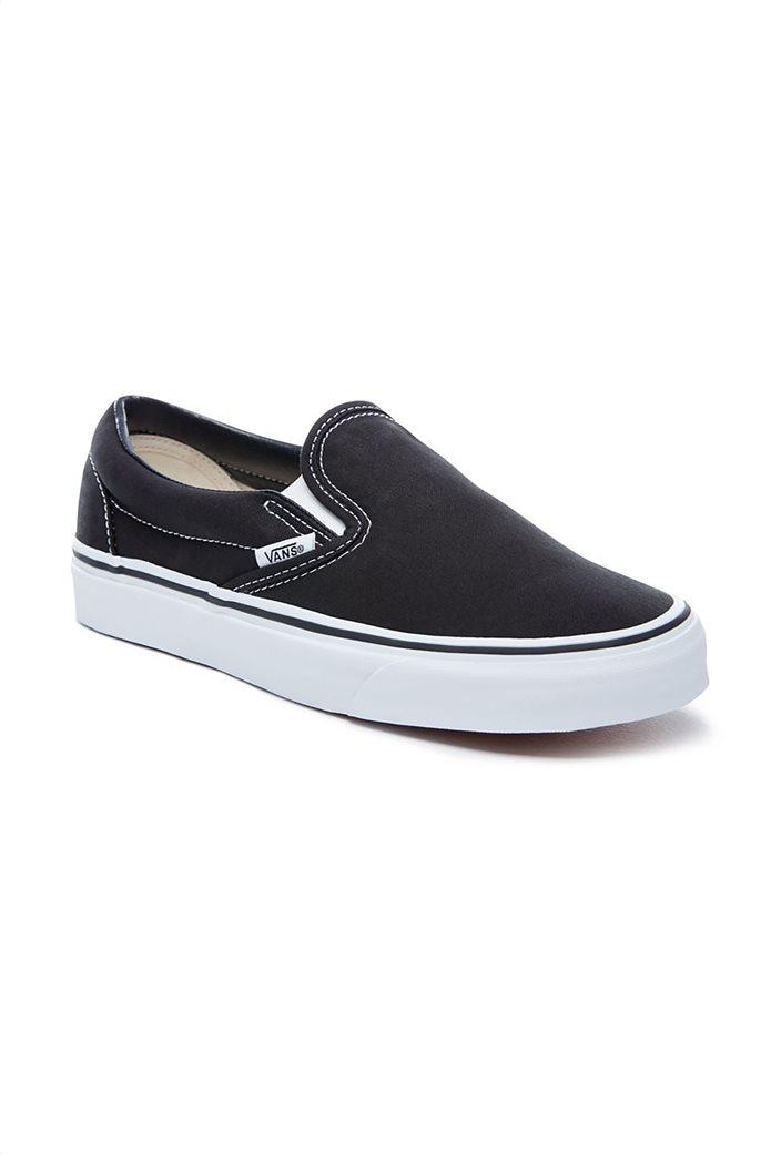 Vans unisex υφασμάτινα παπούτσια  με άσπρη σόλα Classic Slip-On 2
