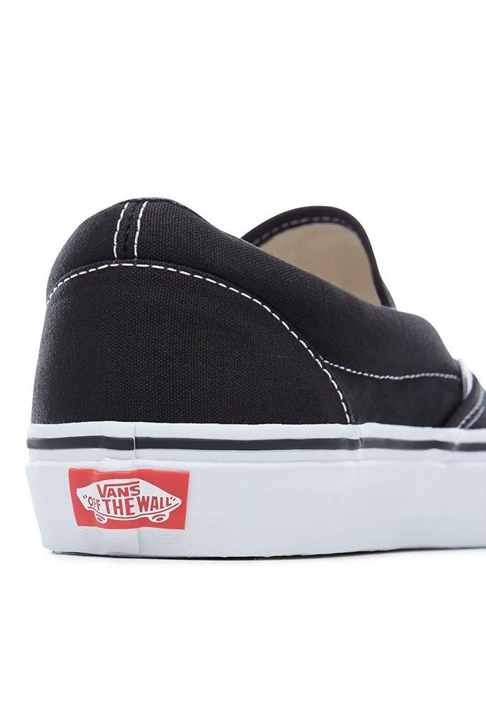 Vans unisex υφασμάτινα παπούτσια  με άσπρη σόλα Classic Slip-On 3