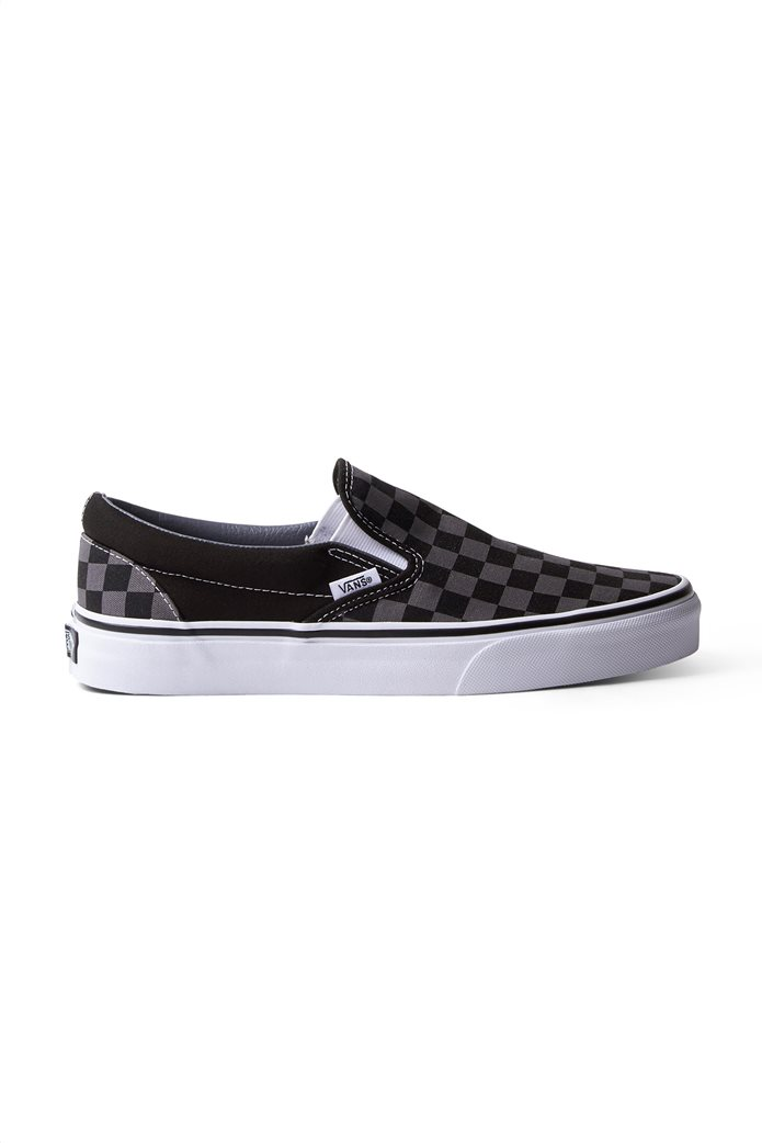Vans unisex υφασμάτινα παπούτσια με καρό σχέδιο Classic Slip-On 0