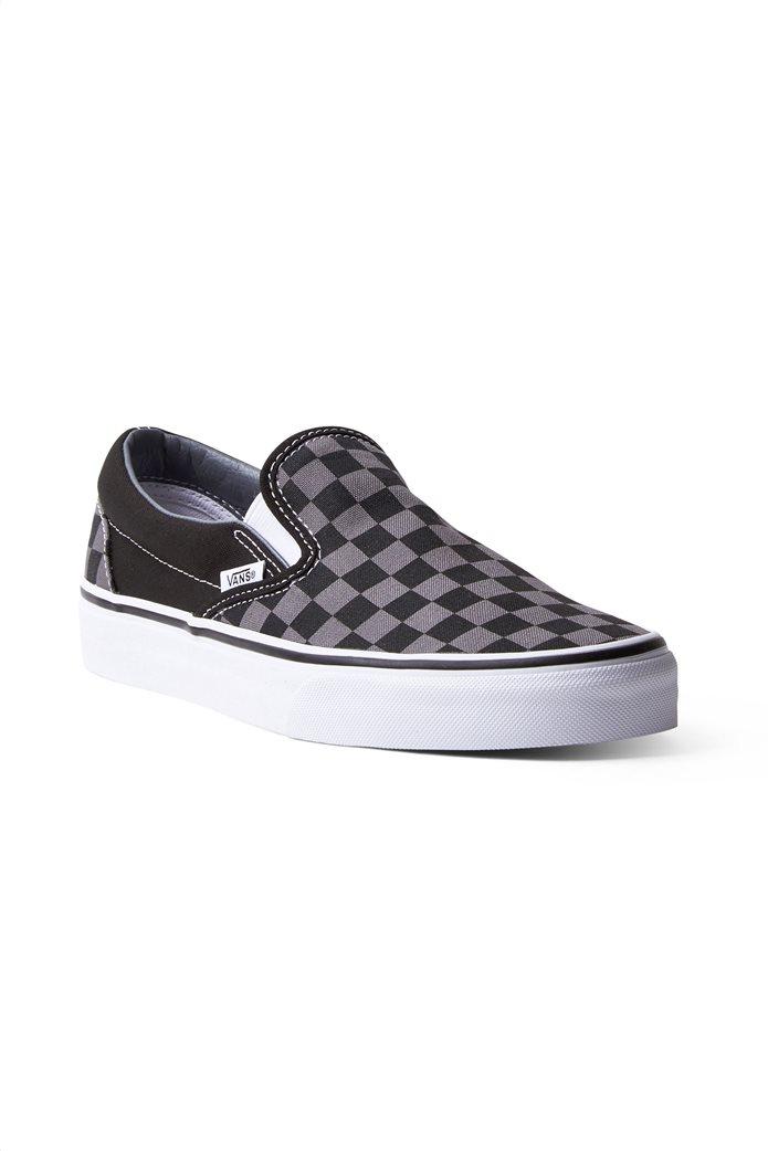 Vans unisex υφασμάτινα παπούτσια με καρό σχέδιο Classic Slip-On 1