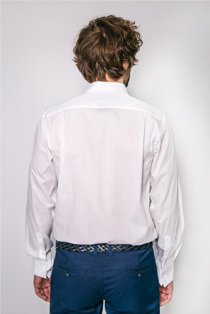 The Bostonians ανδρικό πουκάμισο μονόχρωμο Λευκό 2