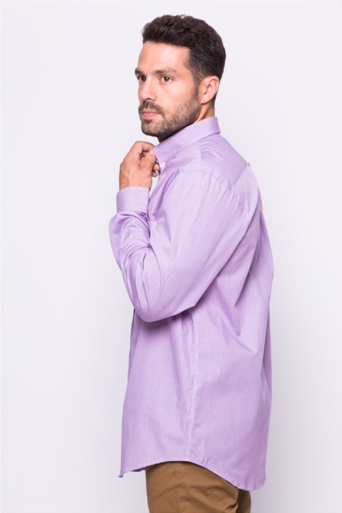 The Bostonians ανδρικό μακρυμάνικο πουκάμισο με μικροσχέδιο 0