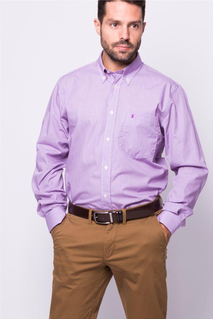 The Bostonians ανδρικό μακρυμάνικο πουκάμισο με μικροσχέδιο 2