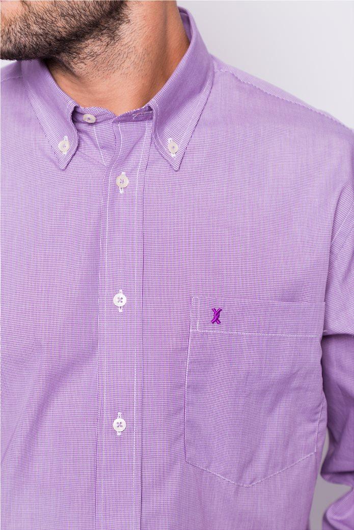 The Bostonians ανδρικό μακρυμάνικο πουκάμισο με μικροσχέδιο 3