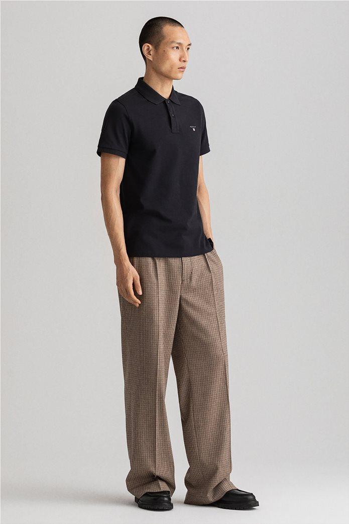 Gant ανδρική πικέ πόλο μπλούζα μονόχρωμη 2