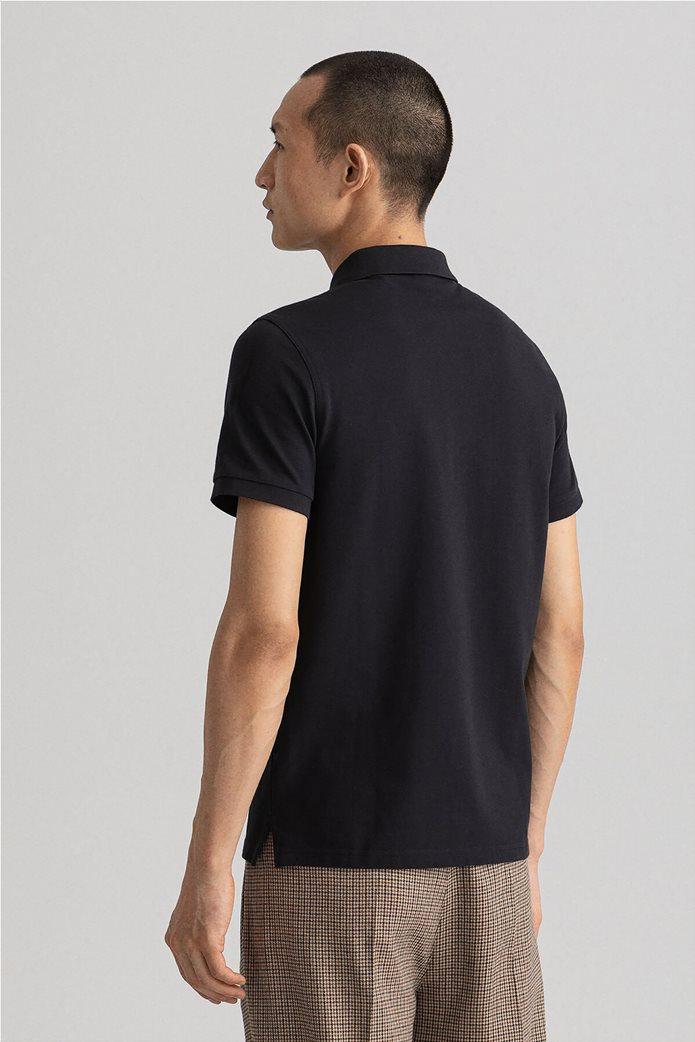 Gant ανδρική πικέ πόλο μπλούζα μονόχρωμη 3