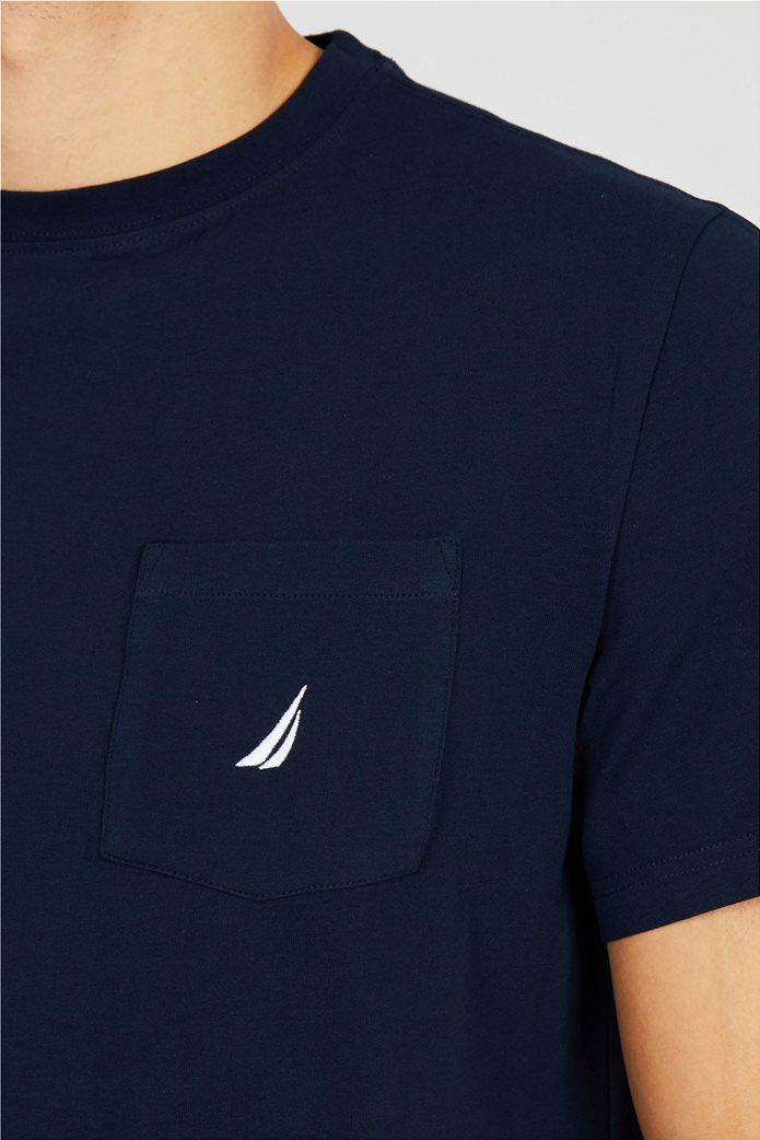 Nautica ανδρικό T-shirt μονόχρωμο με τσέπη 1