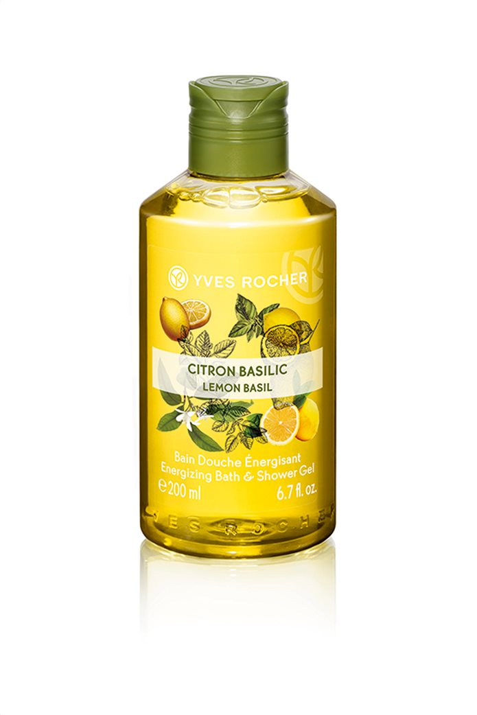 Yves Rocher Energizing Bath and Shower Gel Lemon Basil 200 ml 0